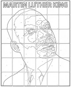 Martin Luther King mural collaborative art project diagram