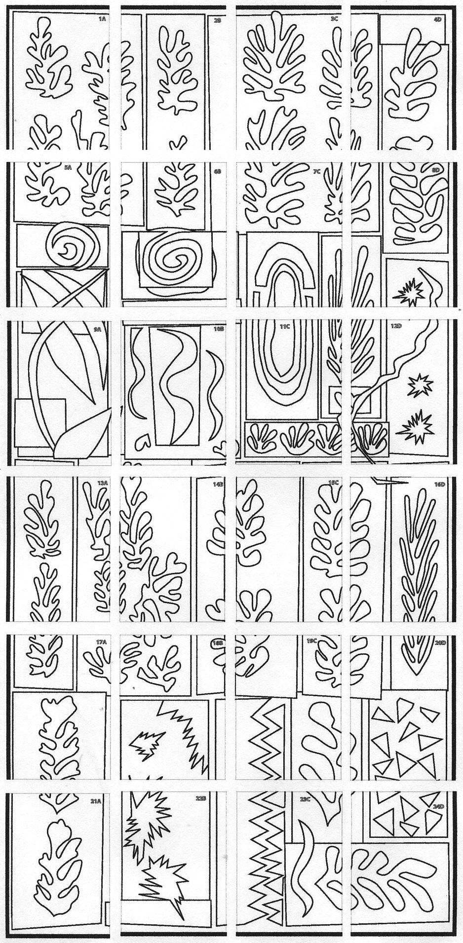 matisse coloring pages - ode to matisse art projects for kids