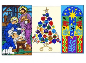 Mini Christmas Murals One