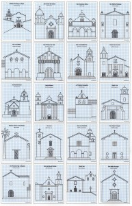How to draw California missions