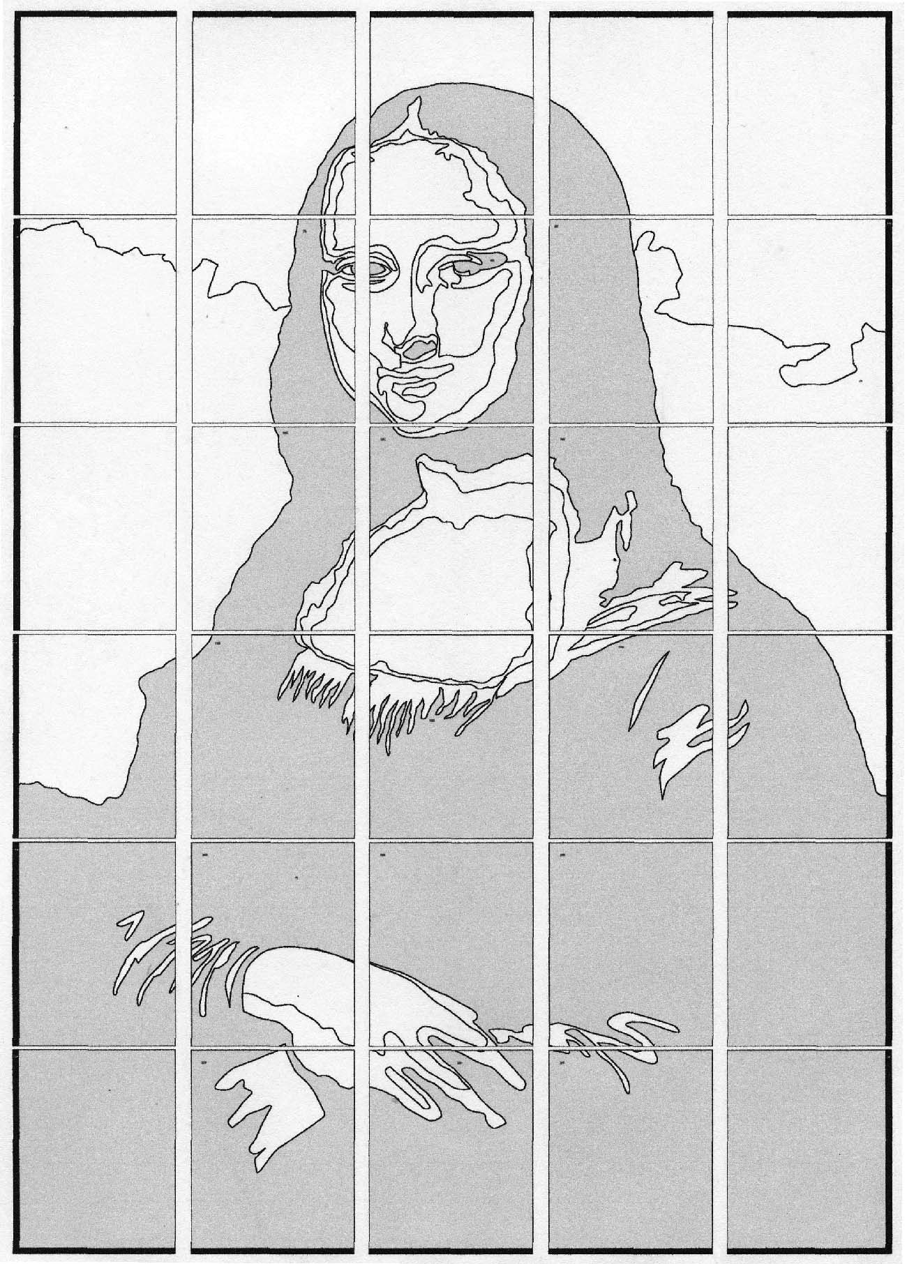 mona lisa outline mona lisa art report the new york times