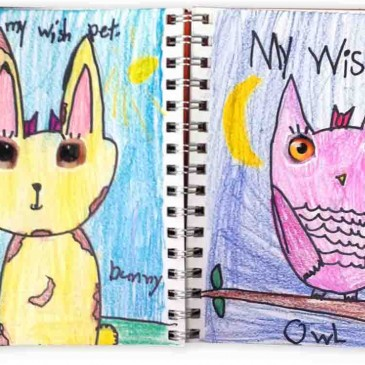 """My Pet"" Art Journal Page"