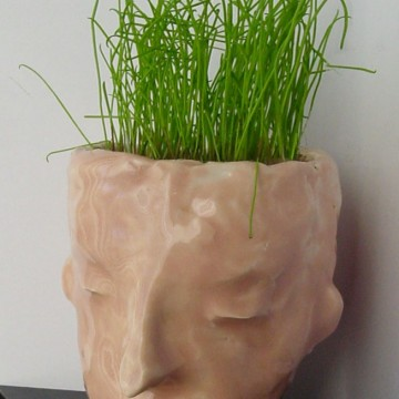 Ceramic Planter Face