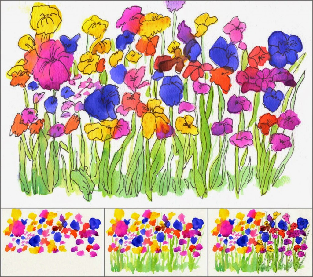 Wet on Wet Watercolor Flowers Art Projects for Kids