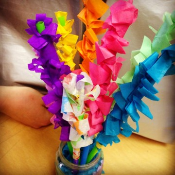 Hyacinth Tissue Paper Flowers