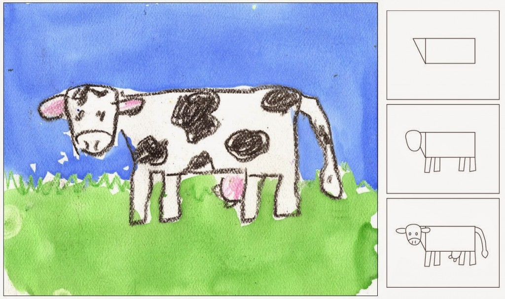 Draw a Cow - Art Projects for Kids