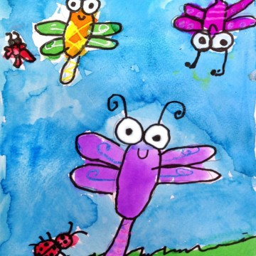 Doodle Bug Painting
