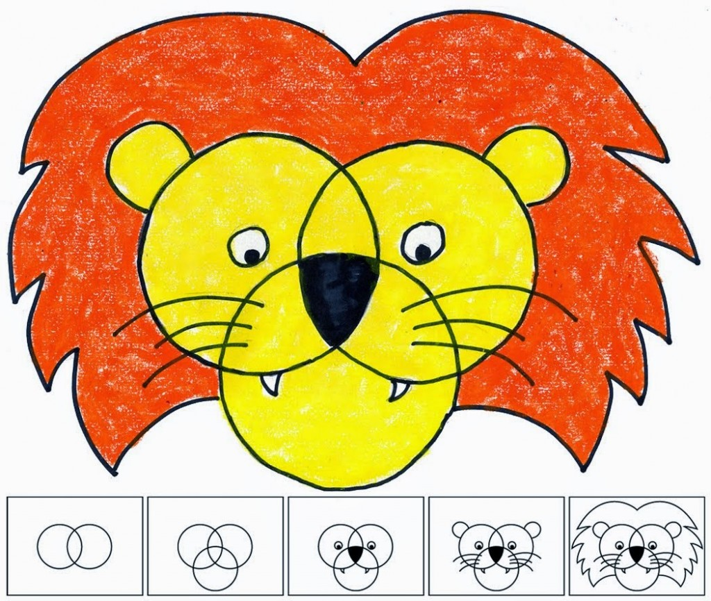How to draw a cute lion - photo#26