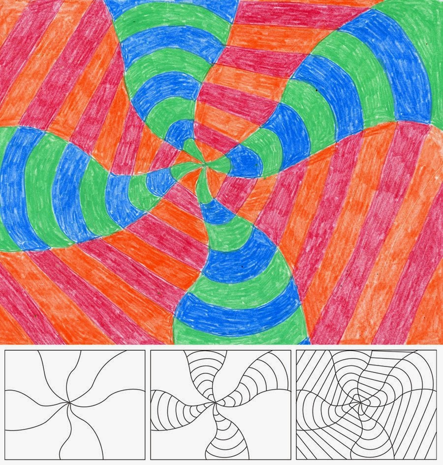 Op Art Swirl - Art Projects for Kids