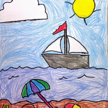 Ryan's Seaside Drawing