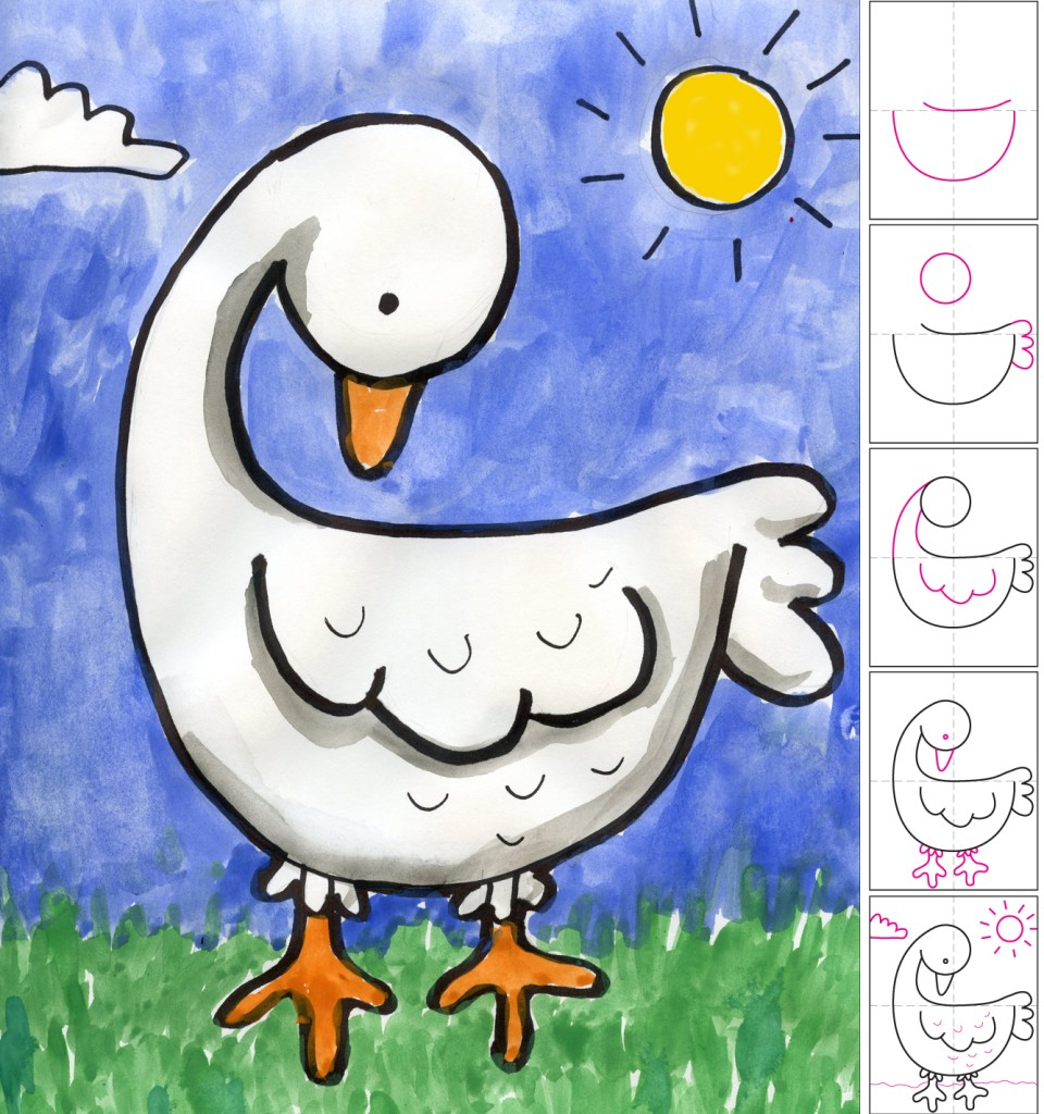 Goose art projects for kids for Paintings to copy