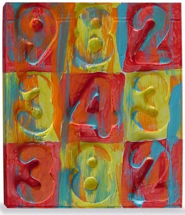 Jasper Johns Painting Collage