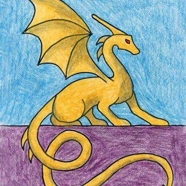 Draw a Sitting Dragon