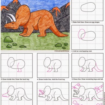 Draw a Triceratops