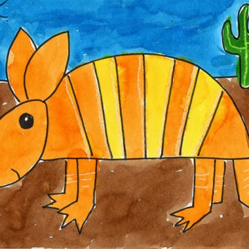 Draw an Armadillo