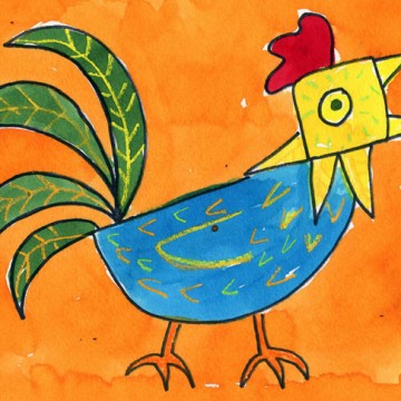 Draw a Rooster