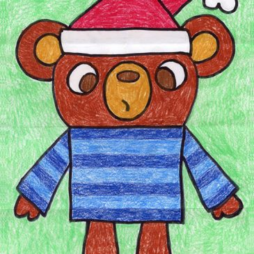 Draw a Holiday Teddy Bear