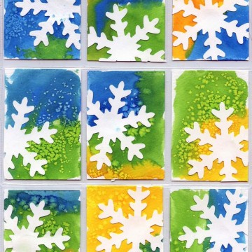 Snowflake Art Trading Cards