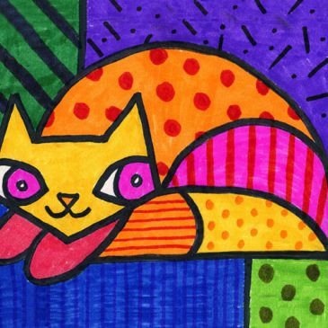 Draw a Romero Britto Cat