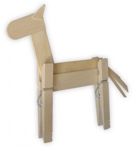 Clothes-pin-horse