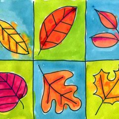 Fall Leaf Grid