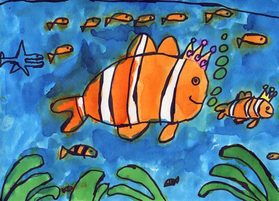 Neariah's Clown Fish - Art Projects for Kids