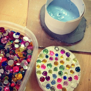 Plaster and Jewels Paperweight
