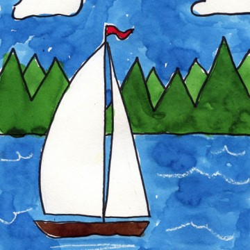 Sailboat on a Lake