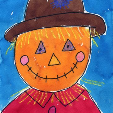 How to Draw a Scarecrow Face