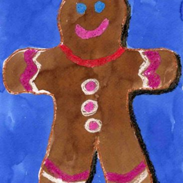 Watercolor Gingerbread Cookie