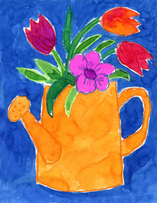 Watering Can Flowers Art Projects For Kids