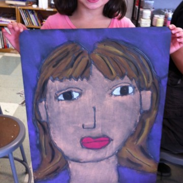 Giant Chalk Pastel Portraits