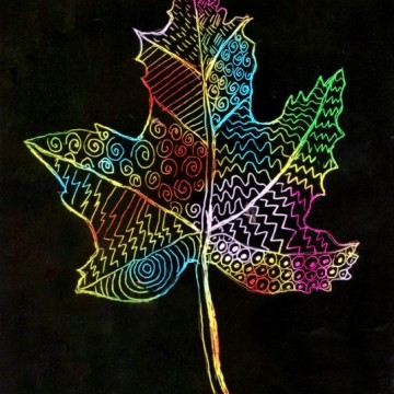 Scratch Art Leaf