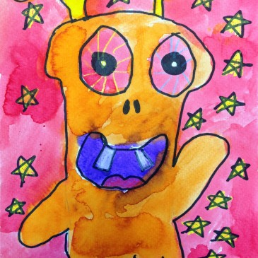 Clover's Watercolor Monster