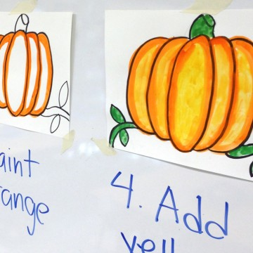 Step by Step Pumpkin Painting