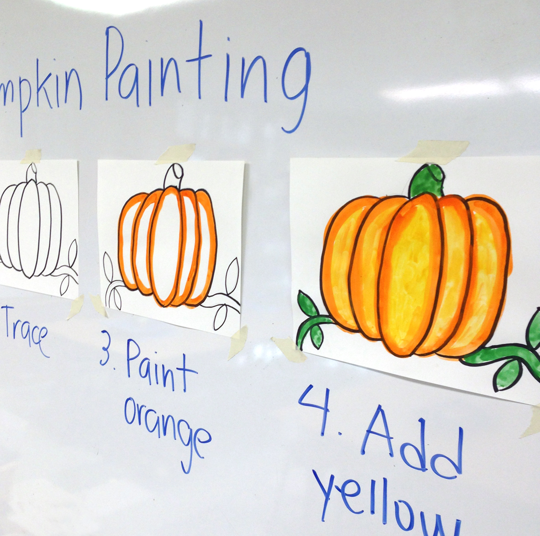 step by step pumpkin painting art projects for kids