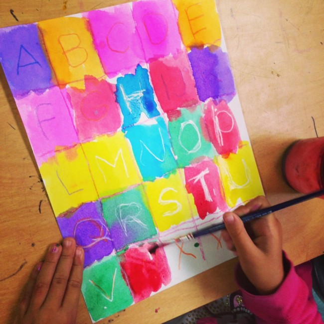 Alphabet art project art projects for kids for Watercolor painting and projects