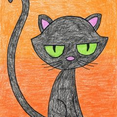 Cartoon Black Cat