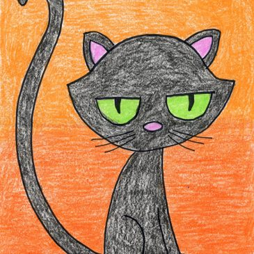 Draw a Cartoon Black Cat