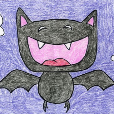 Draw a Cartoon Vampire Bat
