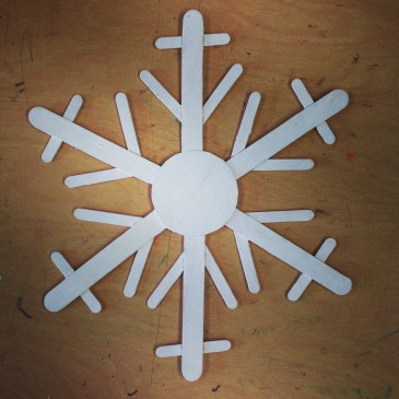 Jumbo Craft Stick Snowflake