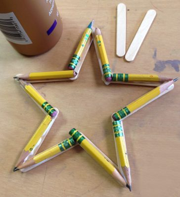 Recycled Pencil Star
