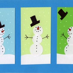 Sticker Snowman Card