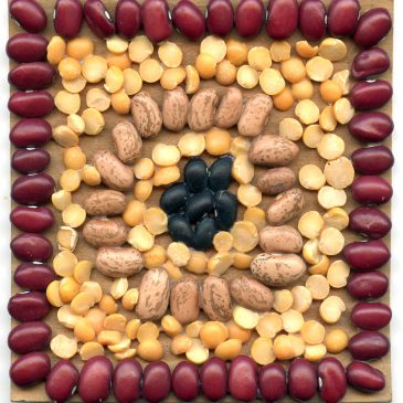 Mosaic Art with Beans