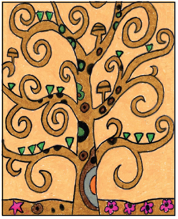 Klimt Tree Of Life Art Lesson Gustav Klimt s Tree of Life