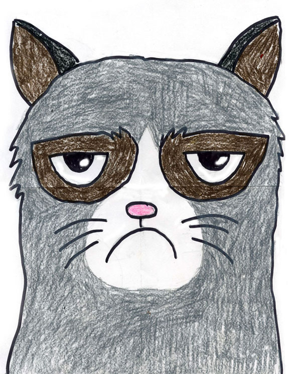 Grumpy Cat - Art Projects for Kids