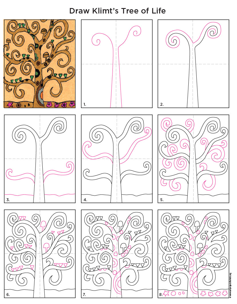 Klimt Tree Of Life Art Lesson Tree of Life - ...