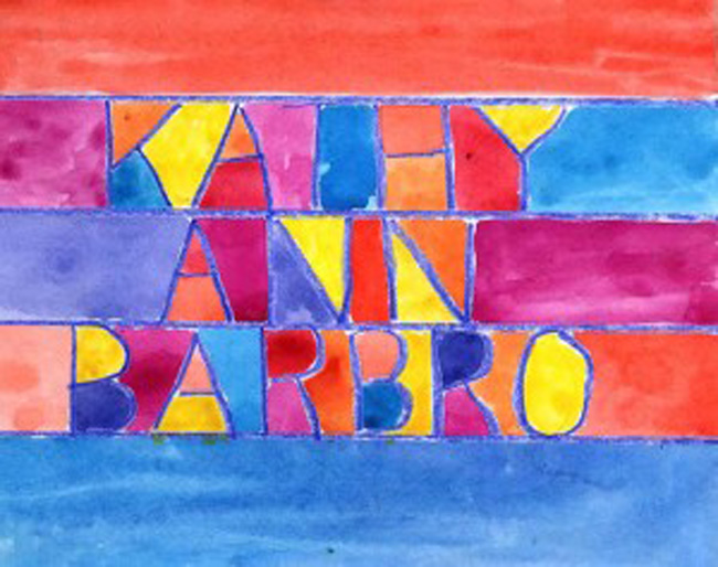 Watercolor and crayon name art projects for kids for Watercolor painting and projects