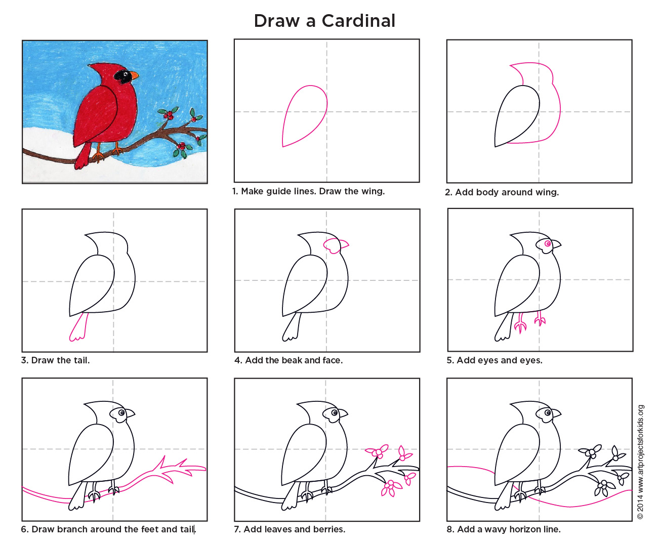 this cardinal drawing project is from way back when but i never made