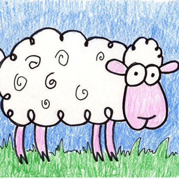 Draw a Cartoon Sheep